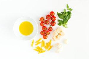 Italian food raw ingredient
