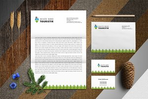 MockUp corporate style Forest Retro