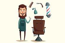 Cute barber character