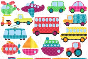 Patchwork Transportation Graphics