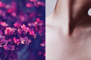 neck and flowers