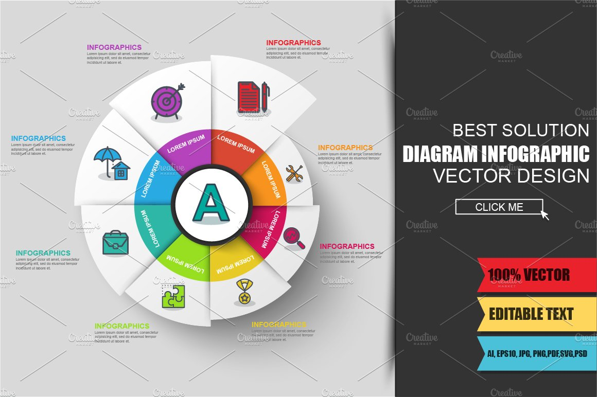 business diagram infographic ~ presentation templates ~ creative market
