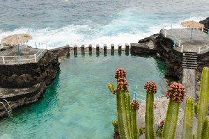 Blue Pool in La Palma island.