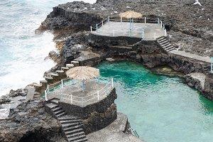Blue Pool, La Palma island.