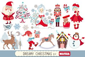 DREAMY CHRISTMAS clipart