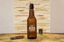 Beer Bottle Label Mock-up#16