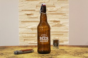 Beer Bottle Label Mock-up#16
