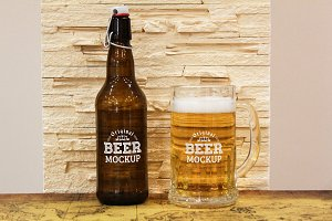 Beer Bottle Label Mock-up#18