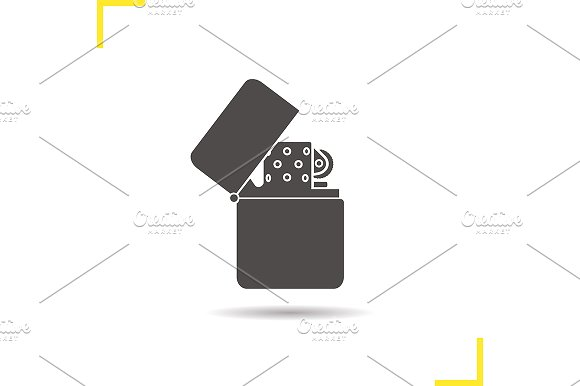 Gasoline lighter icon. Vector - Icons