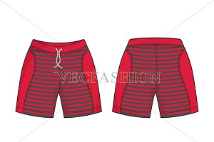 Men Sport Sweat Shorts Vector
