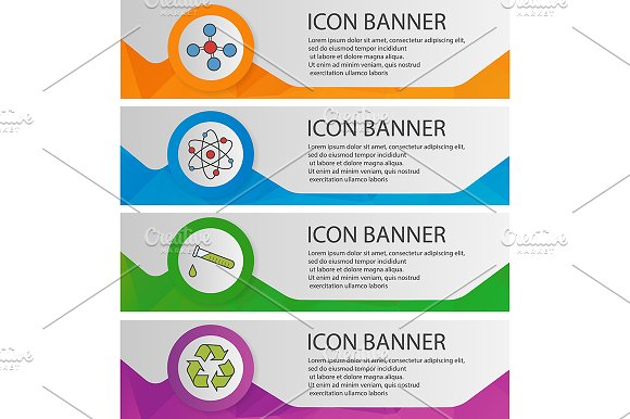 Science lab banner templates. Vector - Product Mockups