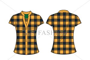 Fitted Cotton Poplin Shirt Vector