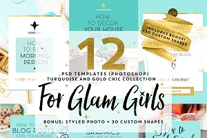 SALE $10 12 TEMPLATES FOR GLAM GIRLS