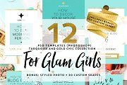 12 TEMPLATES FOR GLAM GIRLS