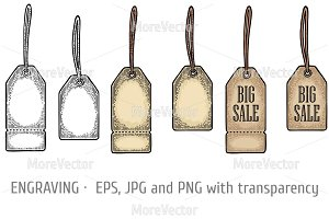 Set hanging tag sticker BIG SALE