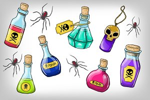Halloween poisons + 2 patterns