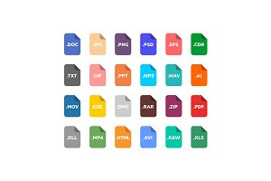 File extensions icon set