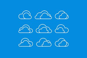 Vector clouds icon set