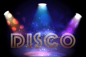 Disco background with spotlights