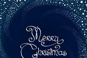 Winter swirl Christmas card