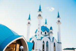 Kul Sharif mosque in Kazan Kremlin under clouds summer