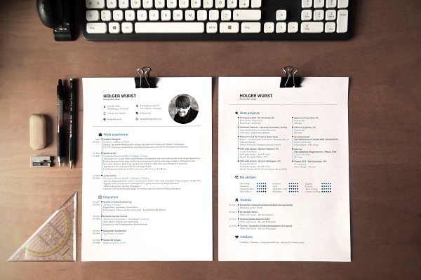 Cover Letter Templates: Designed in Berlin - CV, resume and cover letter template