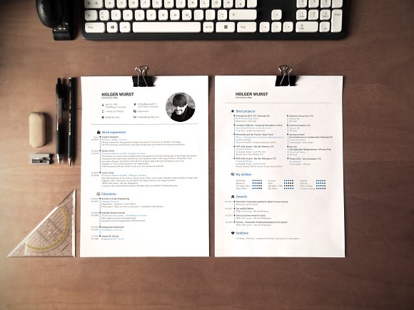 CV, Resume And Cover Letter Template