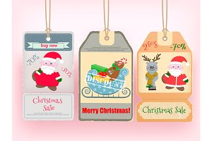 Winter Christmas Big Sale Tags