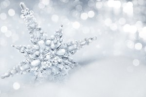 Snowflake and christmas background.