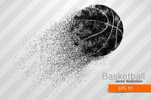 Basketball ball from particles