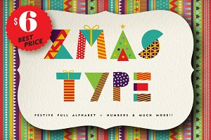 christmas geometric type+MORE 90%OFF