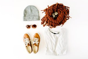 Autumn clothes arrangement
