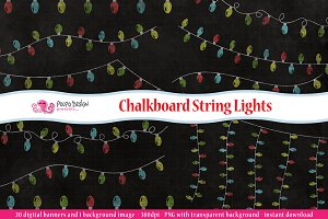 Chalkboard String Lights clipart
