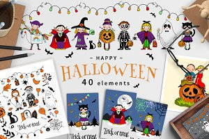 Halloween Figures and Elements