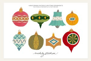 Vintage Christmas Ornament Clipart