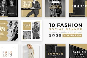 Fashion Social Banner Pack 4
