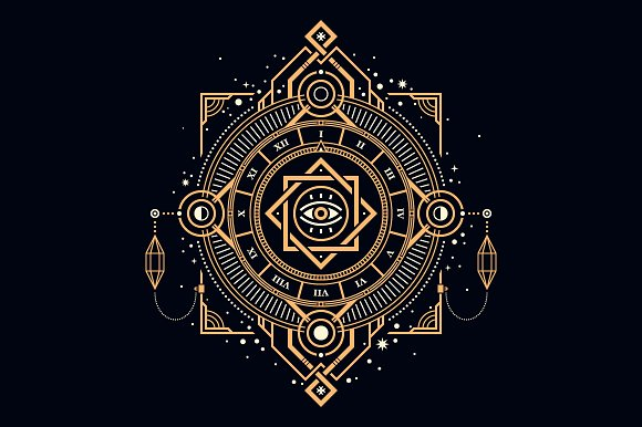 sacred geometry graphic patterns creative market