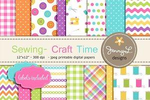 Sewing Art Digital Papers