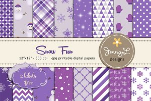 Snow Digital Papers