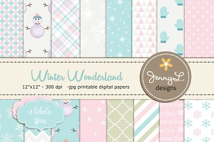 Winter Digital Papers