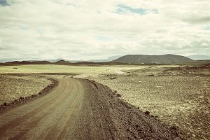 Dirt road in Iceland
