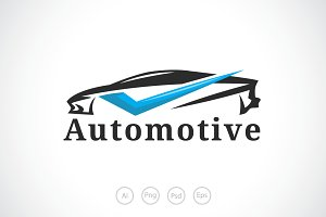 Car Check Automotive Logo Template