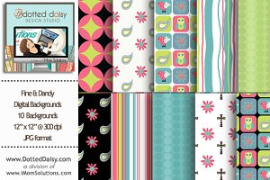 Fine & Dandy Digital Backgrounds