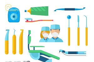 Dentist tools vector