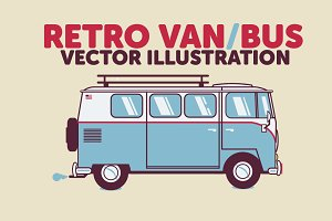 Retro Bus / Van Vector Illustration
