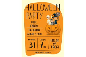 Halloween party poster design