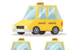 Vector yellow taxi car