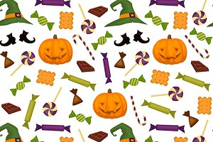 Halloween pattern background.