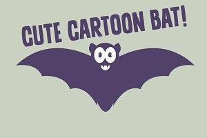 Cute Retro Cartoon Bat
