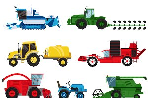 Vector industrial farm equipment